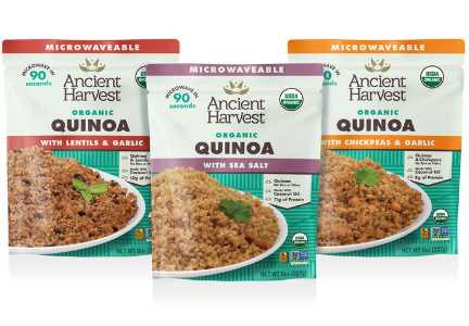 Ancient Harvest organic quinoa heat-and-eat, gluten-free