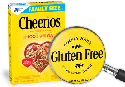 Gluten-free Cheerios and Honey Nut Cheerios