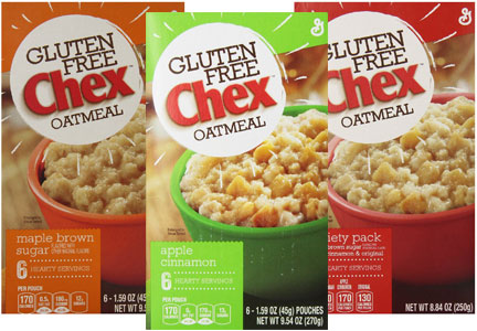 Gluten free Chex oatmeal, General Mills