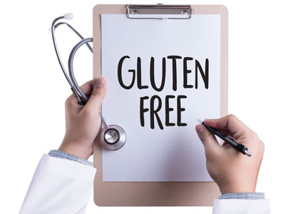 Doctor prescribing gluten-free diet