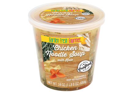 Garden Fresh Gourmet Chicken Noodle Soup with Kale, Campbell