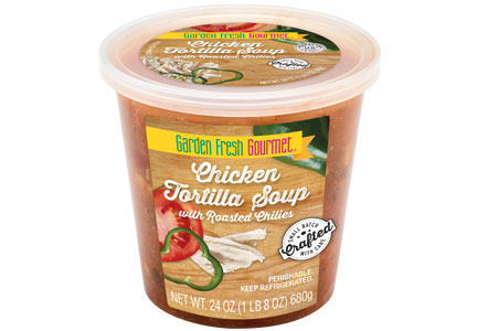 Garden Fresh Gourmet Chicken Tortilla with Roasted Chiles soup, Campbell