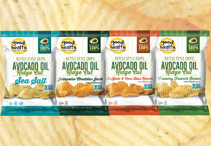 Good Health avocado oil ridge-cut chips