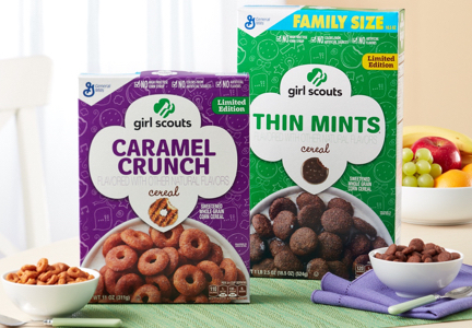 General Mills Girl Scout Cookie cereal