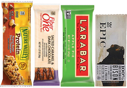 General Mills bars - Nature Valley, Fiber One, Larabar, Epic