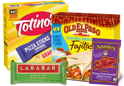 General Mills products - Totino's Old El Paso, Larabar, Annie's