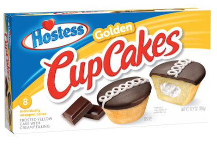 Hostess Golden Cupcakes