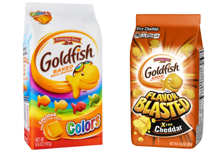 Pepperidge Farm Flavor Blasted Goldfish Crackers and Goldfish Colors