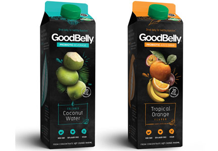 Goodbelly cartons of probiotic juice