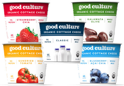 Good Culture organic cottage cheese, General Mills