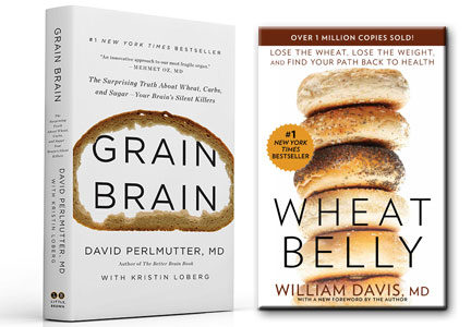 Anti-grain books Grain Brain and Wheat Belly