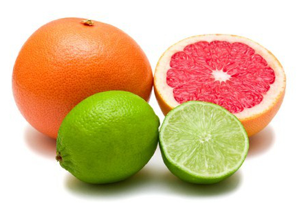 Grapefruit and lime