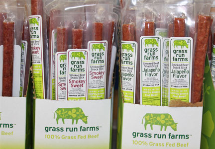 Grass Run Farms beef snacks, Jack Link's