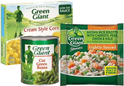 Green Giant vegetables, B&G Foods