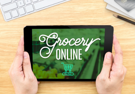 E-commerce, shopping for groceries on-line