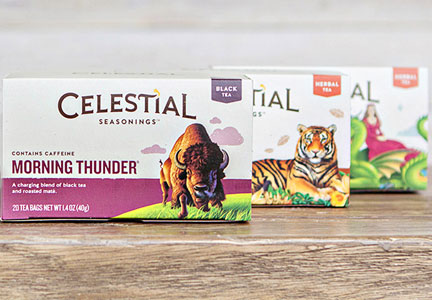 Hain Celestial Celestial Seasonings tea new packaging