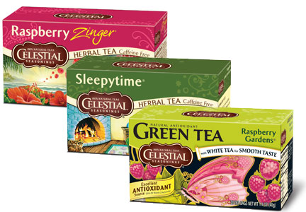 Hain Celestial Celestial Seasonings tea old packaging