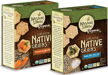 Harvest Stone Sprouted Native Grains crackers
