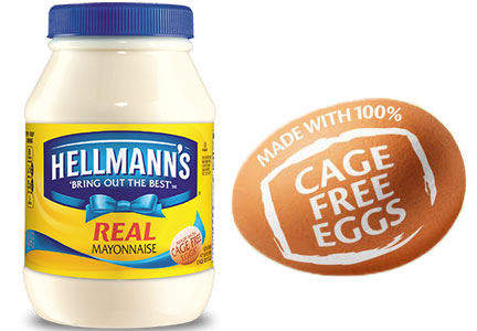 Hellmann's mayonnaise with cage-free eggs, Unilever