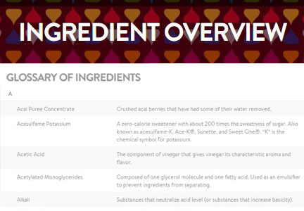 Hershey ingredients glossary