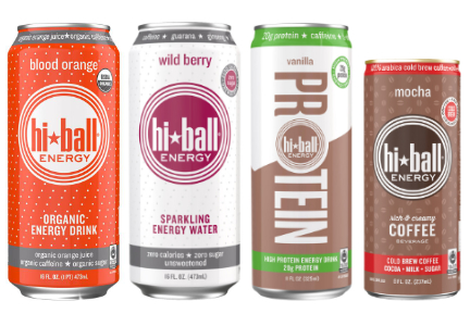 Hiball Energy energy drinks, sparkling energy water, high protein energy drink, cold brew coffee