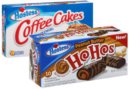 Hostess Ho Hos and Coffee Cakes