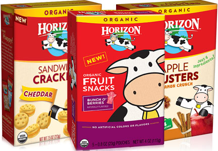 Horizon Organic snacks, WhiteWave Foods