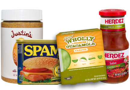 Hormel brands: Justin's, Herdez, Wholly Guacamole, SPAM