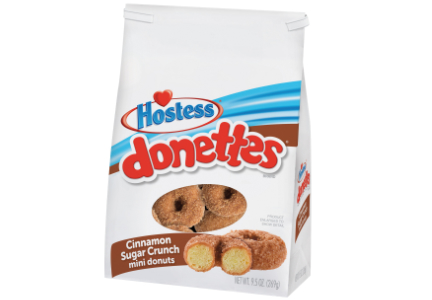 Hostess cinnamon sugar crunch donettes