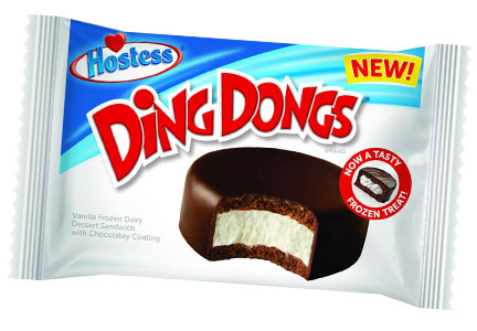 Hostess Ding Dong Ice Cream Sandwich