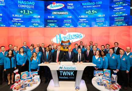 Hostess Execs Ring Bell At Nasdaq Stock Market Food Business News