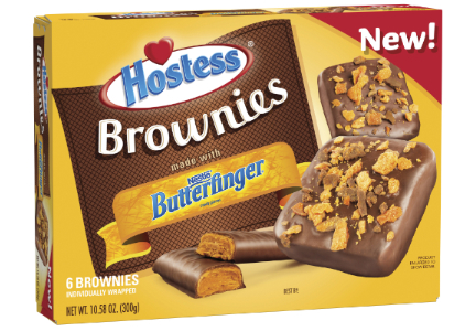 Hostess Nestle Butterfinger brownies
