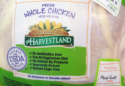 Humanely raised, cage-free chicken