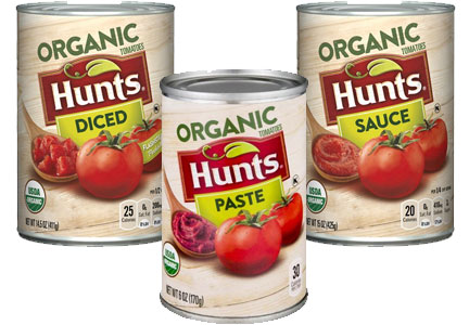 Hunt's organic diced tomatoes, tomato paste, and tomato sauce, ConAgra