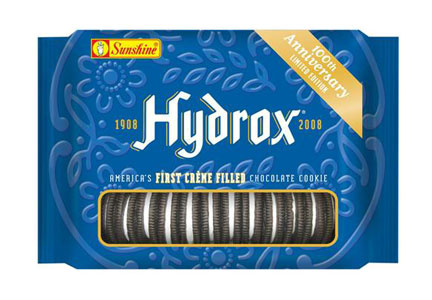Hydrox cookies sold under the Sunshine brand in 2008