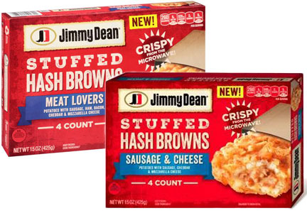 Jimmy Dean stuffed hashbrowns