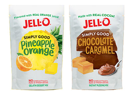 Jell-O Simply Good pudding and Jell-O mixes, Kraft Heinz