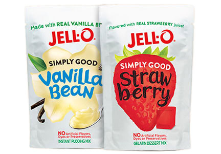 Jell-O Simply Good Jell-O and pudding mixes, Kraft Heinz
