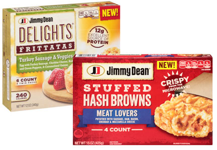 Jimmy Dean new products, Tyson