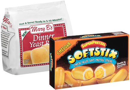 J&J Snack Food products, Mary B's biscuits and SuperPretzel Softstix