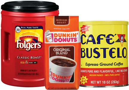 J.M. Smucker coffee brands - Folgers, Dunkin' Donuts, Cafe Bustelo