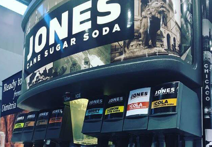 Jones Soda cane sugar fountain