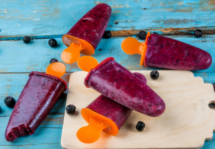 Frozen fresh juice pops
