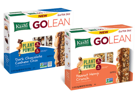 Kashi plant power bars, Kellogg