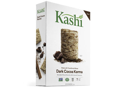 Kashi Dark Cocoa Karma Shredded Wheat Biscuits, Kellogg