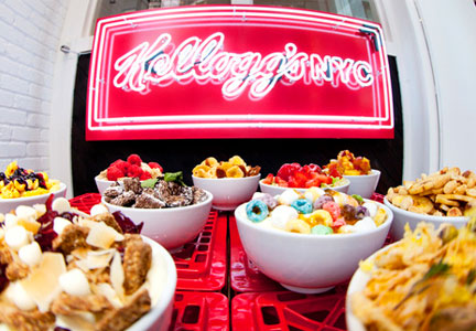 Kellogg's NYC cereal cafe