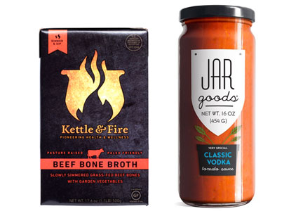Kettle & Fire bone broth, Jar Goods pasta sauces