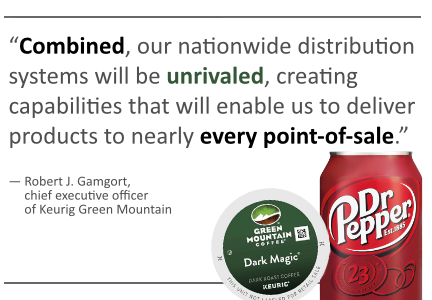 Keurig Dr Pepper Snapple pull quote