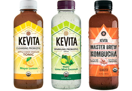KeVita fermented probiotic and kombucha beverages