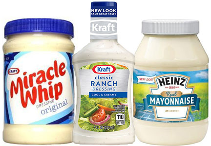 Kraft Heinz Co. Miracle Whip, Ranch salad dressing and Heinz mayonnaise, cage-free eggs